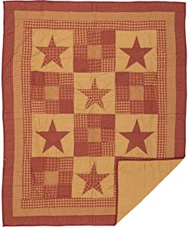 VHC Brands Ninepatch Star Quilted Throw