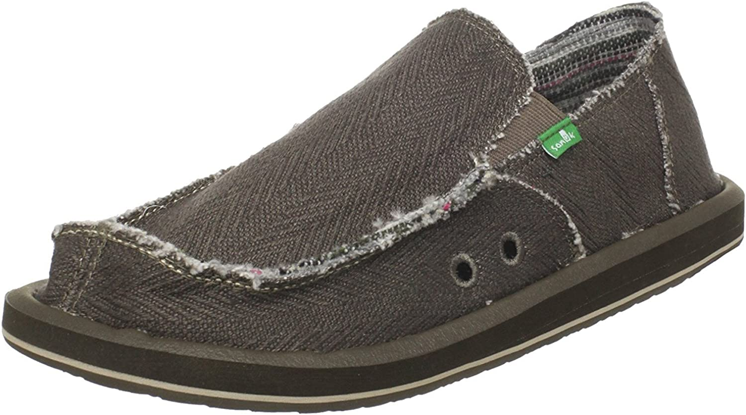 Sanuk Men's Hemp Sidewalk SurferBlack8 M (12 D(M) US   45 EUR, Olive)