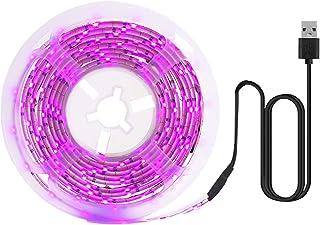 pedkit LED Grow Light Full Spectrum USB Grow Light Strip 5M 2835 SMD DC5V Fita adesiva LED para plantas com sementes Flore...
