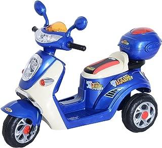 HOMCOM Coche Triciclo Moto Eléctrica Infantil Correpasillos