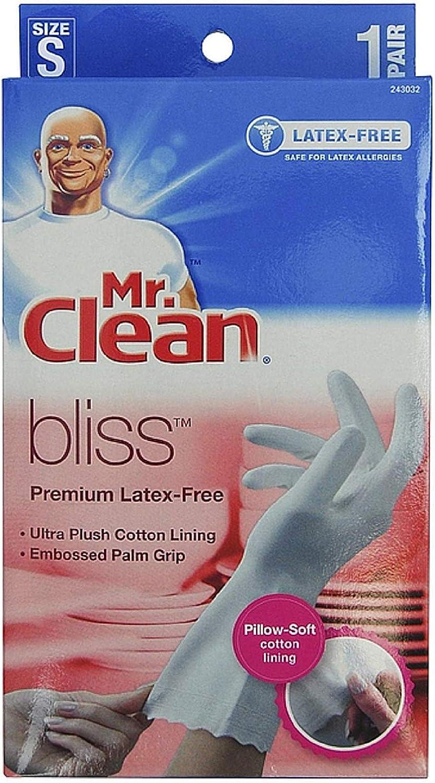 Cheap SALE Start Mr. Clean Bliss Premium Latex-Free 1 pair shopping Small Gloves