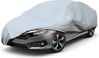 Leader Accessories Premium Car Cover 100% Waterproof Fit Car's Length Up to 200'' Breathable Outdoor Indoor Sedan Cover