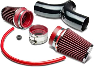 Cold Air Intake System Replacement for Grand Cherokee 03-04 Durango Dakota 02-09,Black Piping, Red Filter