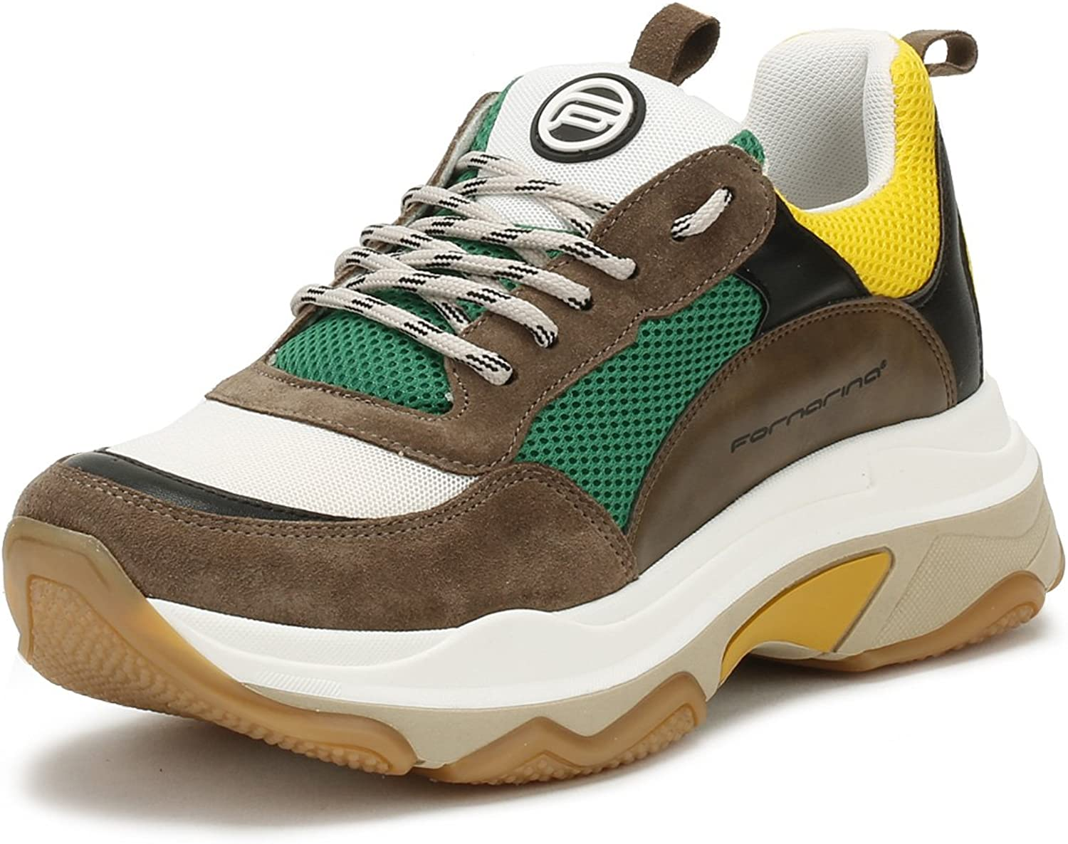 Fornarina Womens Green Super 4 Chunky Sneakers