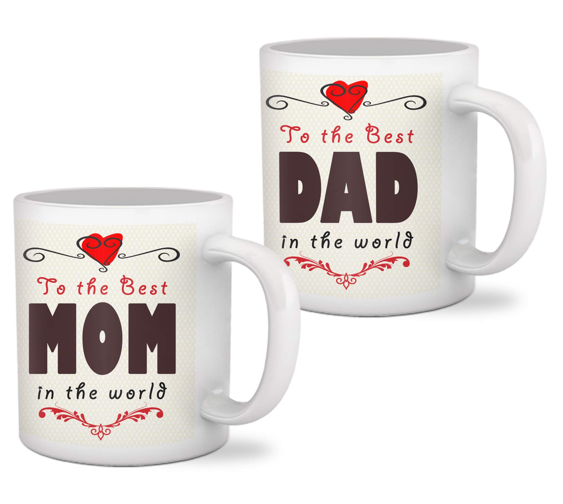 Tied Ribbons to The Best Mom Dad in The World Printed Set of 2 Coffee Mug  sc 1 st  Amazon.in & Anniversary Gifts for Mom and Dad: Buy Anniversary Gifts for Mom and ...