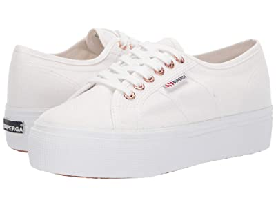 Superga 2790 Acotw Platform Sneaker (White/Rose) Women