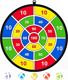Dart Board for Kids with 5 Sticky Balls,Childrens Toys for Intelligence Development,Safe & Classic Toy Gift for Boys Girls...