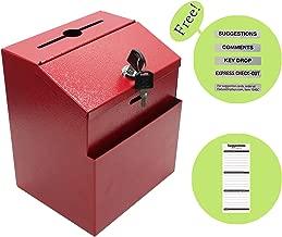FixtureDisplays Red Box, Metal Donation Suggestion Key Drop 7