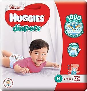 Huggies Silver Diapers, Medium, 72ct