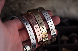 Rune Bracelet - Rune Jewelry Viking - For Men and Women - Fine Silver - Pagan Jewelry - Norse Bracelet