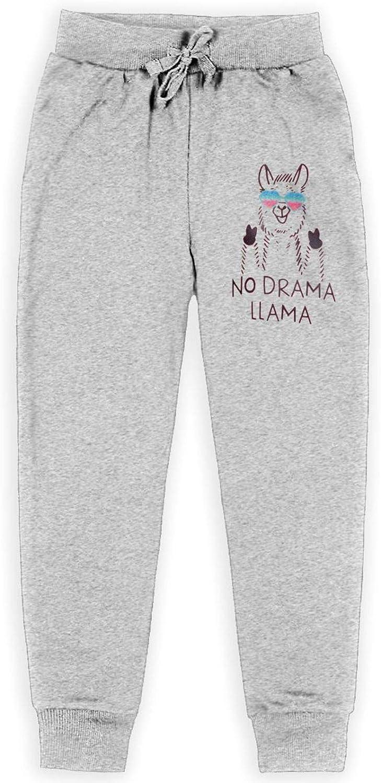 NO Dream Llama Girls Boy's Kids Sweatpants All Cotton Athletic Slacks