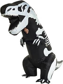 Morph Divertido Disfraz Inflable T-Rex Esqueleto Adultos - Una talla le queda a la mayoría