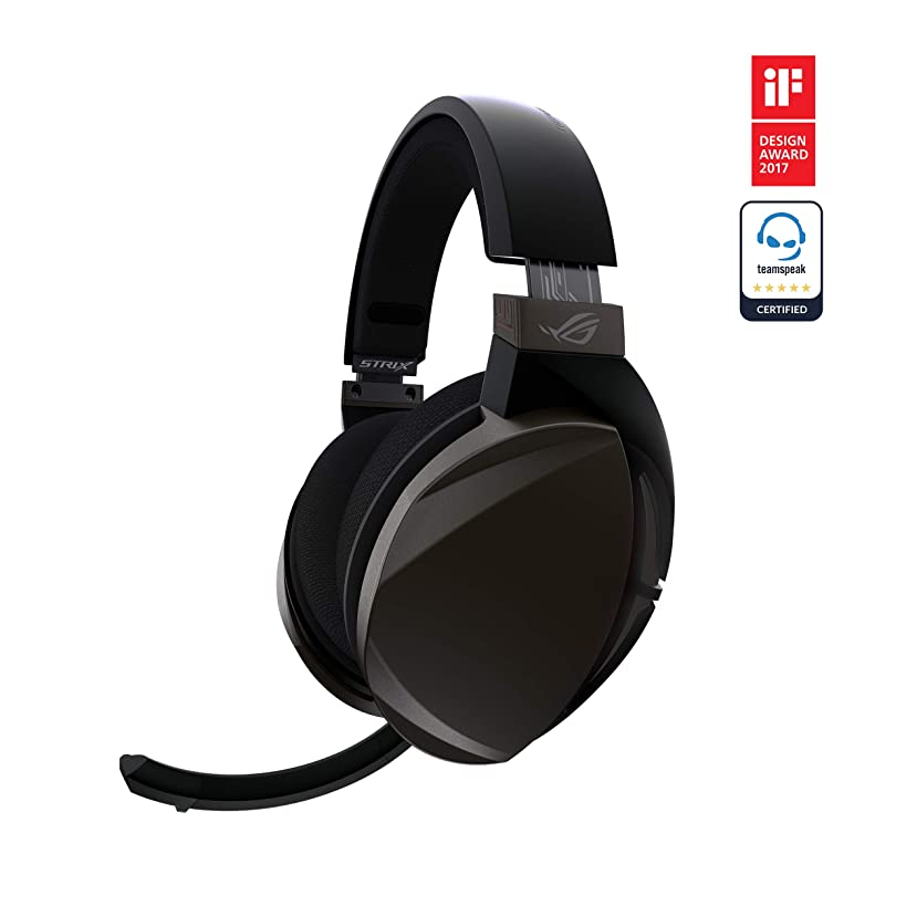 ASUS ROG Strix Fusion Wireless Gaming Headset for PC and Playstation 4 (PS4) with Dual Channel 2.4GHz Wireless Mini Dongle, Digital Microphone with Auto Mute, and Touch Controls