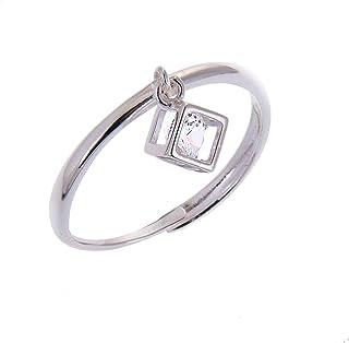 Anello in argento regolabile con pendente