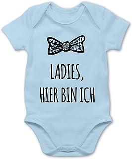 Shirtracer Sprüche Baby - Ladies Hier Bin ich - Baby Body Kurzarm für Jungen und Mädchen