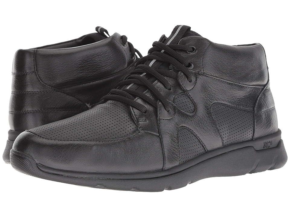 Johnston & Murphy Waterproof Prentiss XC4(R) High Top Sneaker (Black Waterproof Full Grain) Men