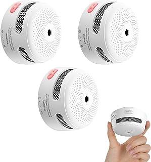 X-Sense Mini Smoke Alarm, 10-Year Battery Fire Alarm Smoke Detector with LED Indicator & Silence Button, XS01, 3-Pack
