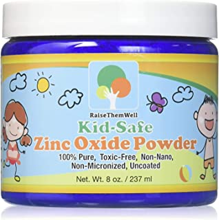 Kid-Safe Zinc Oxide Powder - Non Nano Uncoated Zinc Oxide For Use as a Baby Powder, Sunscreen Powder, Diaper Rash Powder a...