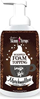 Jordan's Skinny Syrups | Sugar Free Marshmallow Whipped Foam Coffee Topping | Healthy Flavors with 0 Calories, 0 Sugar, 0 Carbs | 16oz Bottle