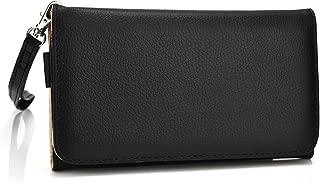 Kroo Universal Wallet Carrying Case for Smartphones - 1 Pack - Retail Packaging - Black