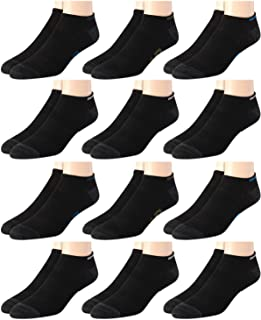 Men's Breathable Solid Lightweight Low Cut Socks (12 Pack)