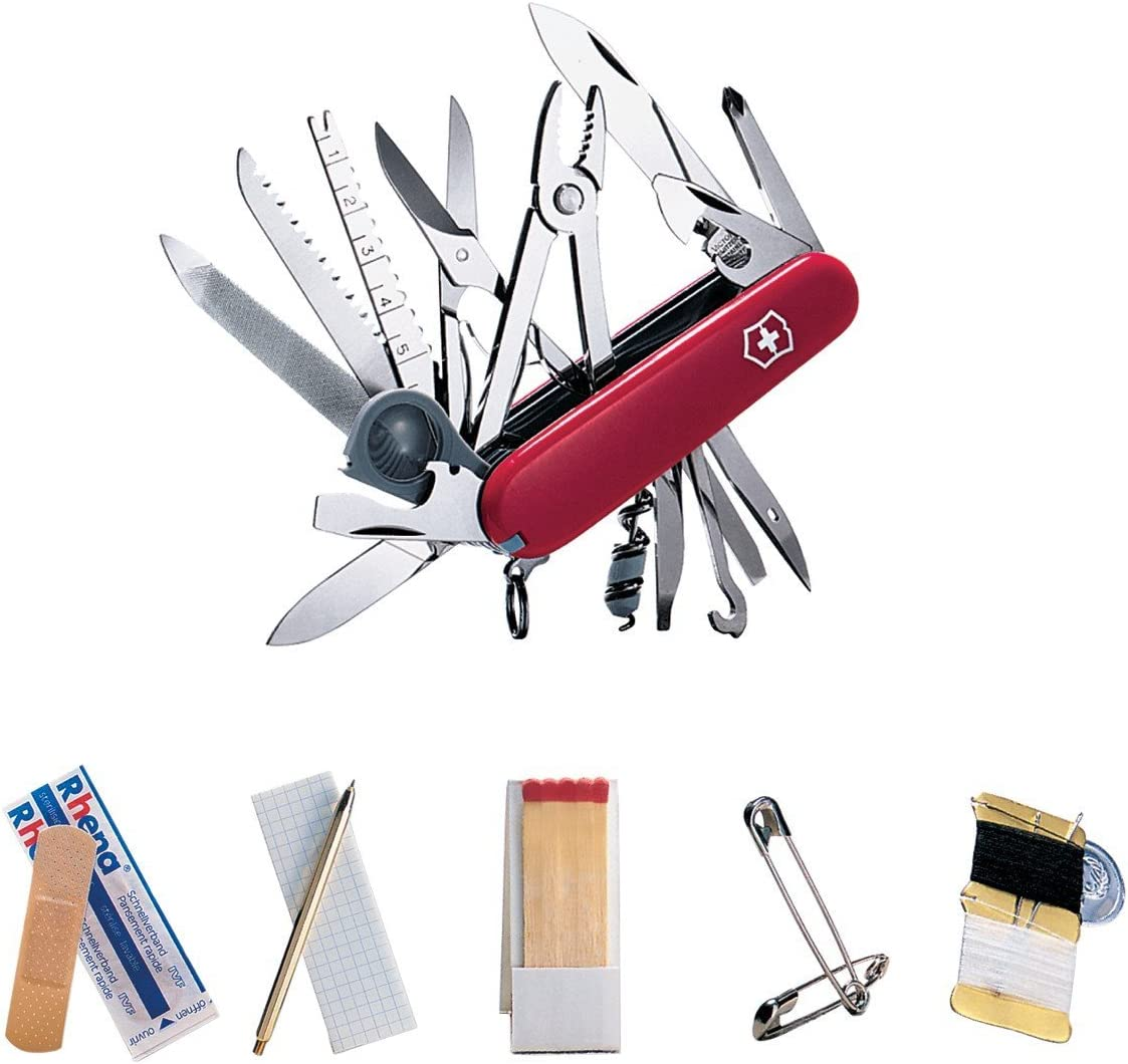 Victorinox Swiss Army Champ SOS Red Same day shipping Set Max 64% OFF Pocket Knife