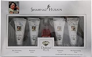 Shahnaz Husain NEW Diamond Plus Ayurvedic Herbal Skin Care Kit with Diamond Cream, Lotion, Scrub, Mask and Skin Tonic in LATEST International Packaging (55 g)