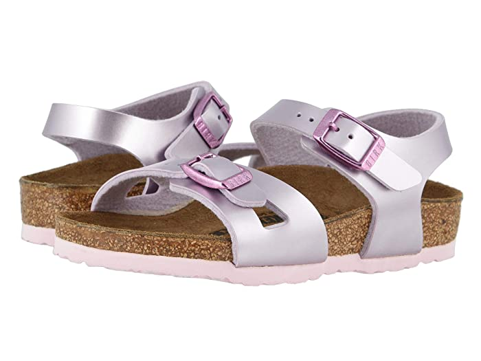 Birkenstock Kids  Rio (Toddler/Little Kid/Big Kid) (Electric Metallic Lilac Birko-Flortm) Girls Shoes