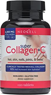 NeoCell Super Collagen Plus C Type 1 and 3-6000 mg - 120 Tablets