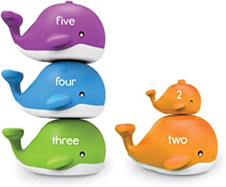 Learning Resources LER6709 Snap n Learn Stacking Whales Set (15 Piece)