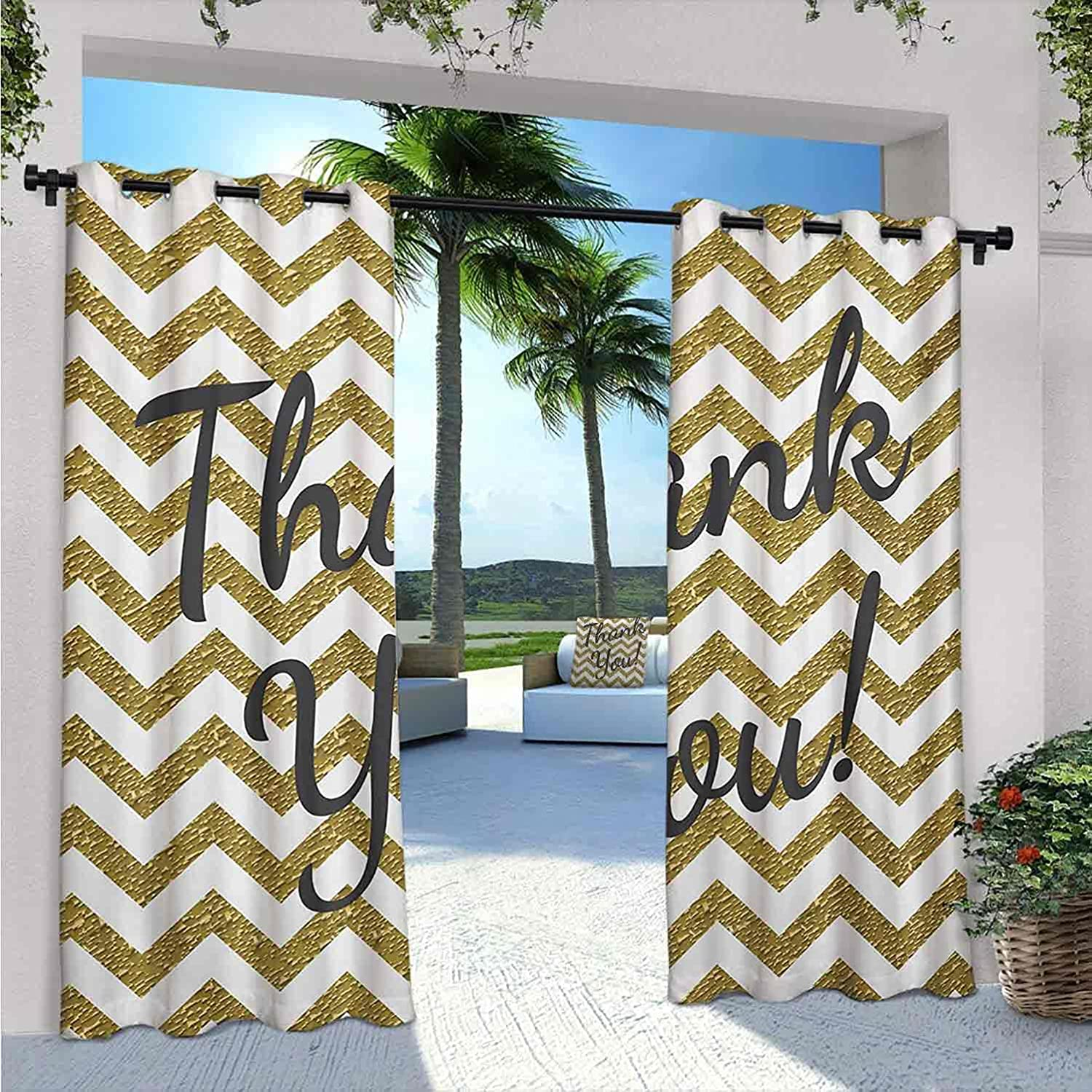 Year-end annual account Modern Waterproof Recommended Gazebo Curtains Geometric Zig Colored Zag Lit