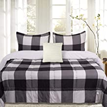 Sweet Home Collection Comforter Set 4 Piece Buffalo Check Plaid Design Soft and Luxurious All Season Down Alternative Reve...