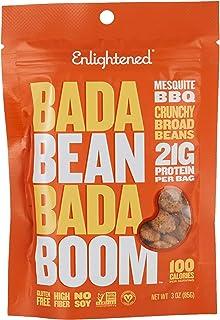 Enlightened Bada Bean Bada Boom Roasted Broad Bean Snacks, Mesquite BBQ, 2 x 85 gm
