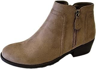 Refresh Women's Tildon-06 Suede Low Heel Ankle Bootie