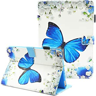 iPad Mini Case, iPad Mini 2 Case, iPad Mini 3 Case, iPad Mini 4 Case, Fvimi Multi-Angle Viewing Folio Smart Leather Cover with Auto Sleep/Wake Function for Apple iPad Mini 1/2/3/4, Flower Butterfly