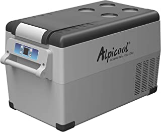 Alpicool CF35 Portable Refrigerator/Freezer 37 Quart(35 Liter) Vehicle, Car, Truck, RV, Boat, Mini Fridge Freezer for Driving, Travel, Fishing, Outdoor and Home use -12/24V DC and 110-240 AC