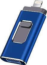 USB Flash Drive for iPhone 128gb Memory Stick LTY Photo Stick USB 3.0 Jump Drive Thumb Drives Externa Lightning Memory Stick for iPhone iPad Android and Computers (blue-128GB)