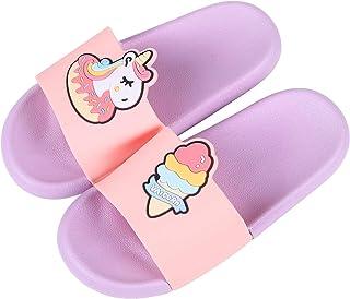 Kids Unicorn Slide Sandals - Boys Girls Cute Cartoon Shower Slippers Summer Beach Sandals (Toddler/Little Kid)