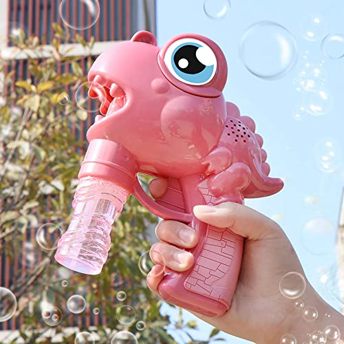 discount Bubble Gun for Kids, Outdoor Bubble Gun Blower Toy, Cute Cartoon Dinosaur outlet online sale Bubble Machine Toy for Kids wholesale Summer Outdoor Fun, Birthday Party Gift - with 2 Bubble Solution (50ml) online