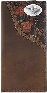 Zep-Pro Mallard Fencerow Braided Leather Long Secretary Concho Wallet-Brown/Camo