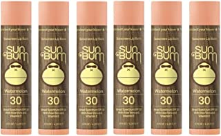 Sun Bum SPF30 Lip Balm Variety Pack (Watermelon, 6)