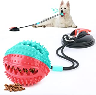 WEISMAN Suction Cup Dog Toy,Dog Toys Interactive Aggressive Chewers Rope Puzzle Toothbrush,Super Suction Cup,Does Not Fall...
