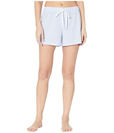 LAUREN Ralph Lauren Cotton Polyester Jersey Separate Boxer Shorts (Blue Stripe) Women