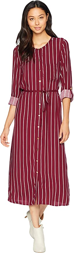 Cindy Stripe Midi Shirtdress