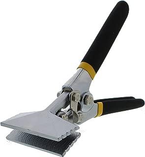 ABN Sheet Metal Hand Seamer - 3 Inch Straight Jaw Manual Metal Bender Tool Sheet Metal Bending Pliers Flattening Tool