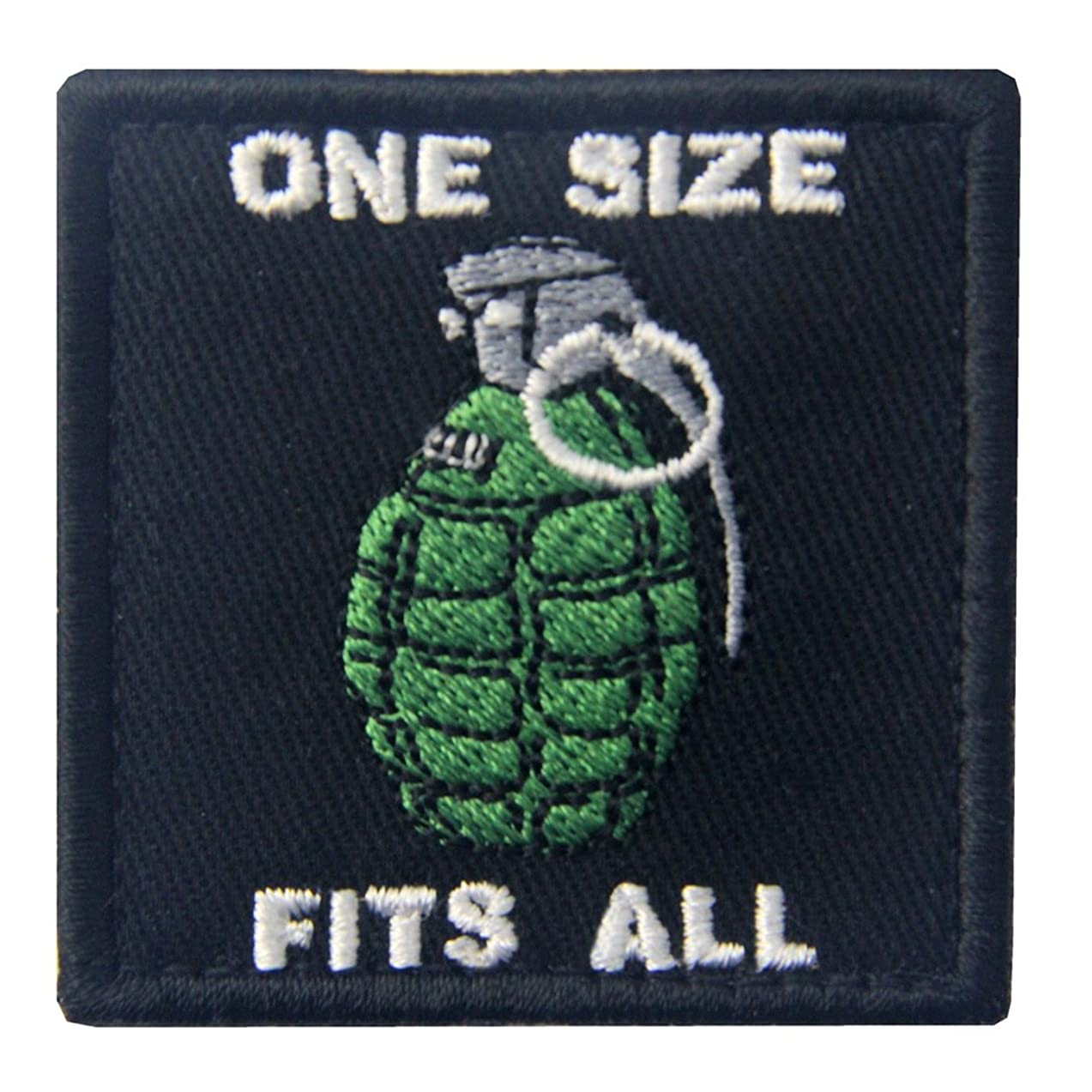 Tactical One Size Fits All Hand Grenade Embroidered Morale Applique Fastener Hook & Loop Patch
