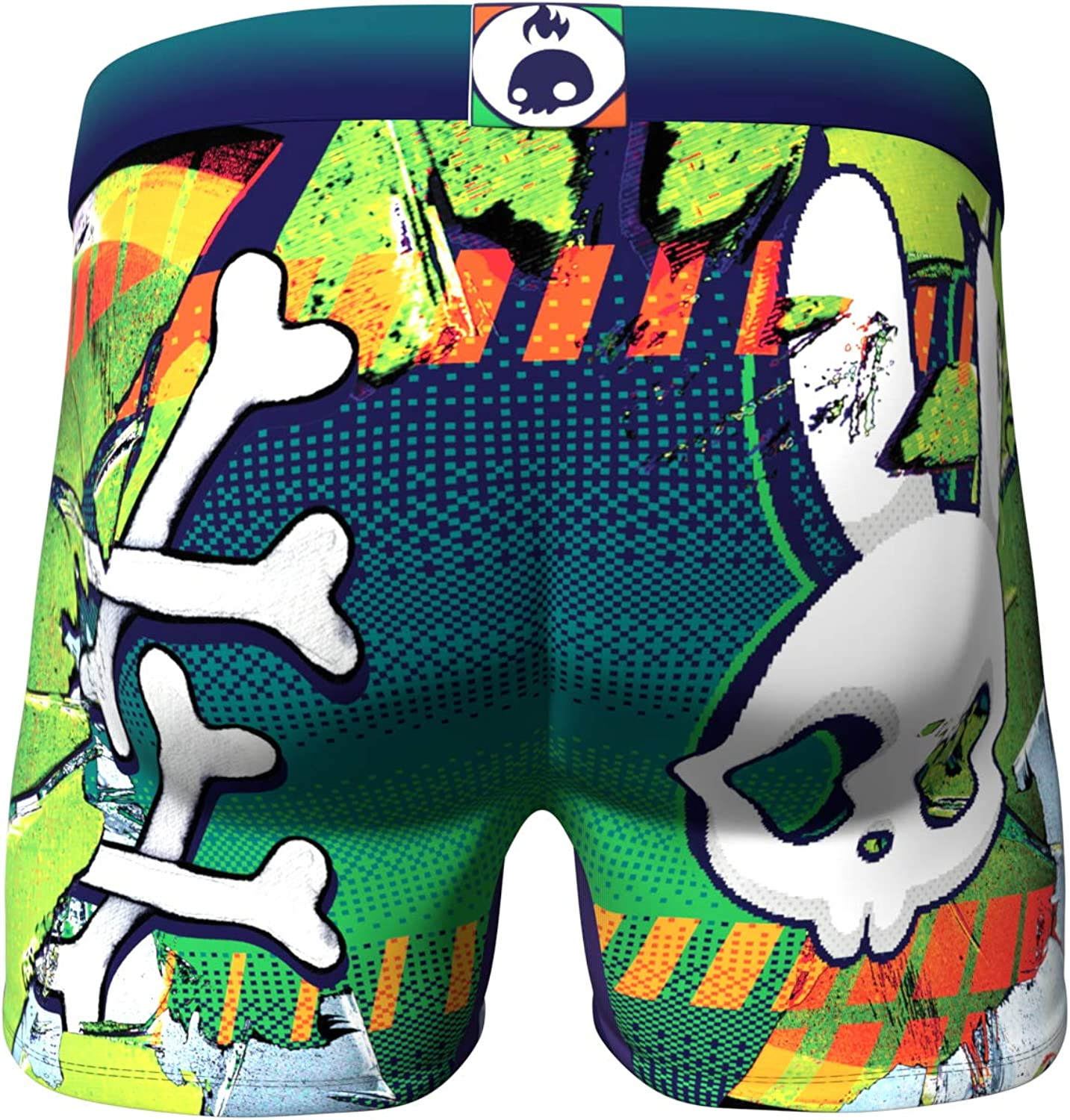 Men's 5-Pack Boxer Briefs - Colorful - Skulls and Donuts