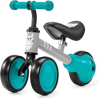 Kinderkraft Balanscykel CUTIE, balanscykel med stödhjul, springcykel, gåcykel, cykel utan pedaler, trehjuling, i metall, m...