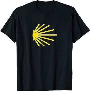 Camino de Santiago Yellow Scallop Shell Trail Symbol T-Shirt