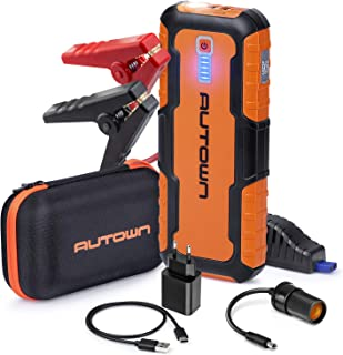 AUTOWN 21000mAh 1000A Peak Portable Car Jump Starter (Up to 8.0L Gas, 6.5L Diesel Engine) - 12V Auto Battery Booster and Power Pack with LED Light, Power Bank Battery Charger & Jump Pack